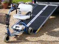 Třikrát složitelné přenosné nájezdy pro invalidní vozíky